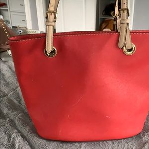 Red Michael Kors tote